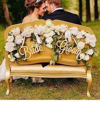 Yksinkertainen/Classic/Morsiamen ja sulhasen Puinen Wedding Sign