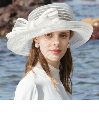 Signore Affascinante/Occhi-cattura Poliestere Beach / Sun Cappelli/Cappelli da Tea Party