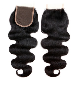 """4""""*4"""" 4A Body Human Hair Closure (Sold in a single piece)"""