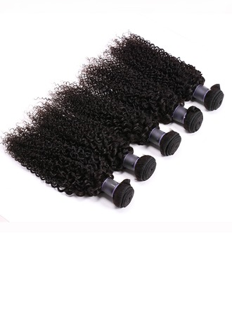 4A Curly Human Hair Human Hair Weave (Sold in a single piece)