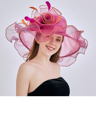 Damen heißeste/Romantisch Organza mit Blume Strand / Sonne Hüte/Kentucky Derby Hüte/Tea Party Hüte