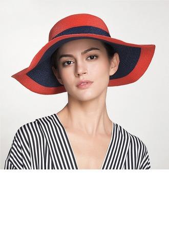 Senhoras Simples/Mais quente Rattan de palha Chapéu de palha/Chapéus praia / sol/Kentucky Derby Bonés