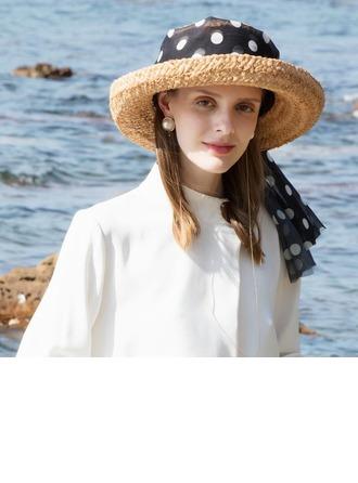 Señoras' Simple/Niza Rafia paja Sombreros Playa / Sol