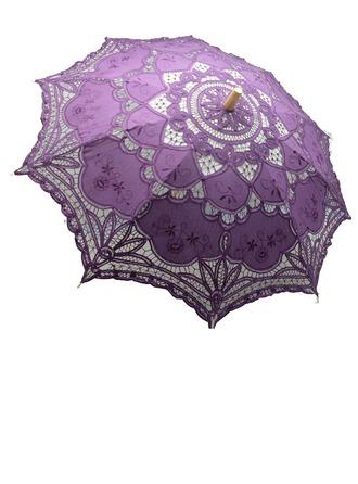 Spets Bröllops Paraplyer/solskydd