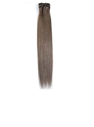 3A Straight Human Hair Clip in Hair Extensions 8pcs