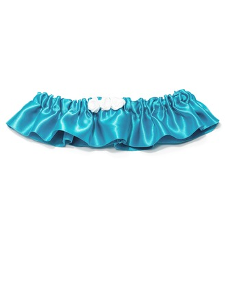 Vintage Satin With Flower Wedding Garters