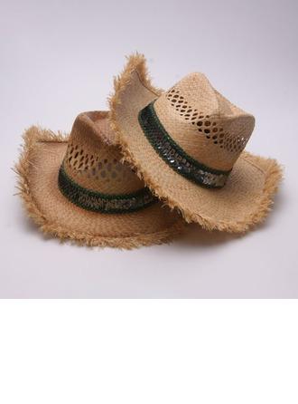 Men's Fashion/Elegant/Unique Raffia Straw Cowboy Hat