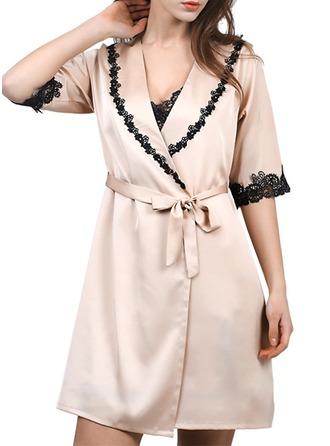 Nevěsta Družička Hedvábí S Tříčtvrteční délka Satinové šaty