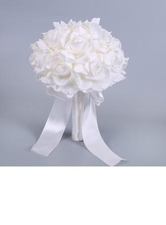 Schlichten und Eleganten Freigeformt Schaum Brautsträuße -