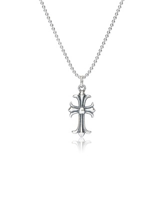 Sterling Silver Religious Cross Necklace