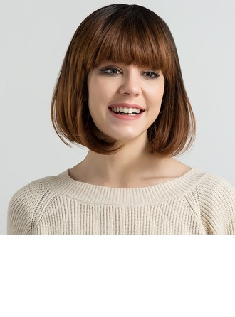 Kinky Straight Synthetic Hair Synthetic Wigs 170g