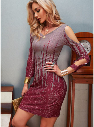 Sequins Bodycon Long Sleeves Mini Party Dresses