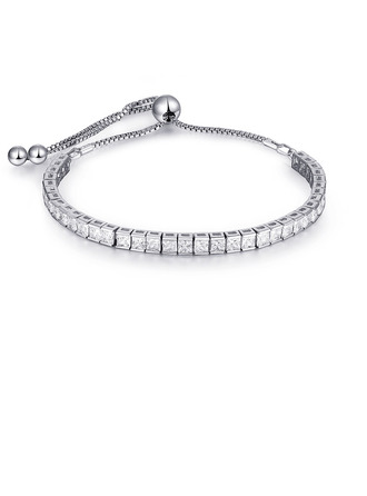 Delikat kæde Brude armbånd Bolo armbånd med Terningformet Zirkon -