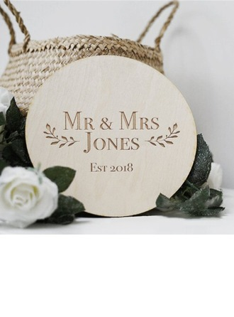 Groom Gifts - Personalized Modern Classic Wooden Wedding Sign
