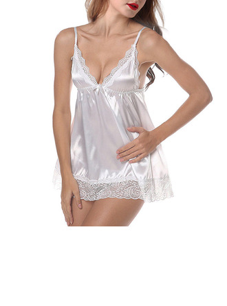 Simple And Elegant Imitated Silk Sleepwear/Bridal Lingerie/Slips/Babydolls