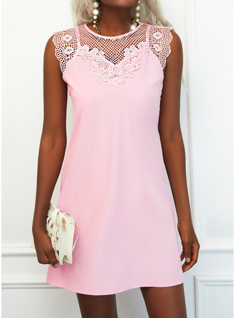 Solid Shift Sleeveless Mini Elegant Dresses