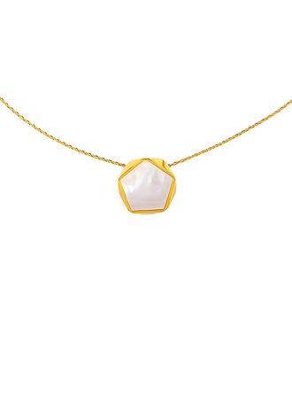 18 Karat vergoldet Star Anhänger Halskette