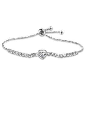 Ladies' Gorgeous Alloy/Zircon Bracelets For Bride/For Bridesmaid