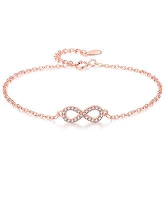 Unique Alloy/Zircon Ladies' Bracelets
