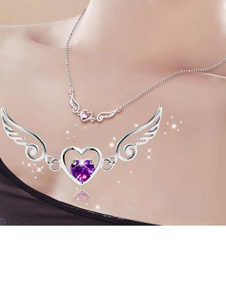 Beautiful Crystal Silver Ladies' Fashion Necklace