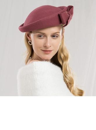 Damene ' Iøynefallende/Pen/Høy Kvalitet Ull med Bowknot Baqueira Hatt