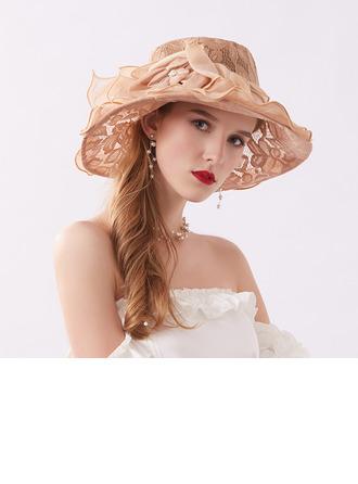 Damen Glamourös/Elegant/Anhänger Spitze Strand / Sonne Hüte/Kentucky Derby Hüte/Tea Party Hüte