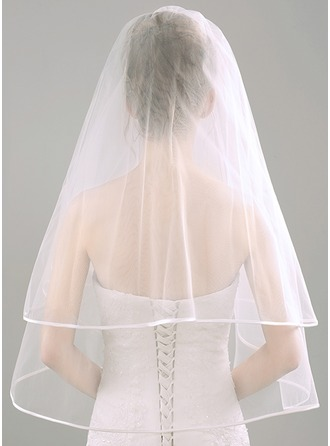 Two-tier Elbow Bridal Veils With Lace