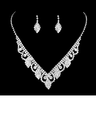 Copper With Rhinestone Ladies' Jewelry Sets