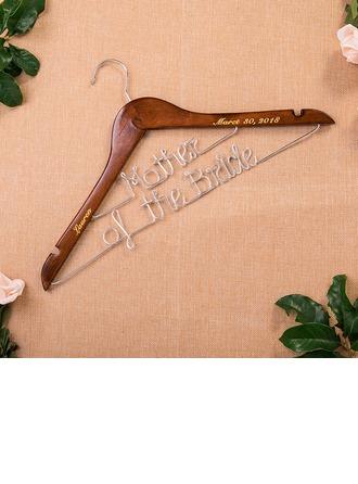 Невеста Подарки - Персонализированные элегантные деревянный Вешалка