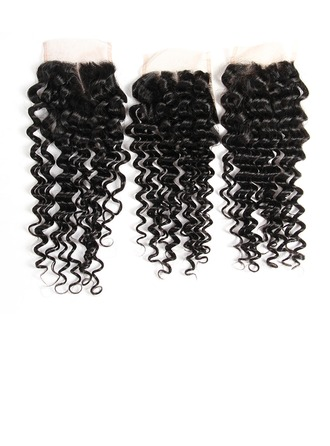 "4""*4"" 4A Non remy Deep Human Hair Closure (Sold in a single piece) 40g"
