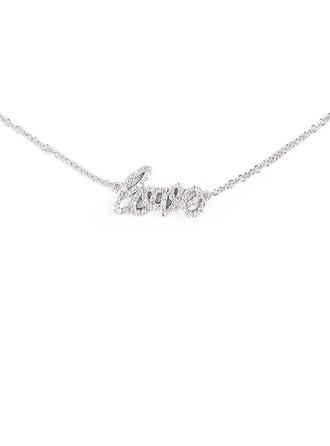 Silber LIEBE Bedeutung Anhänger Halskette Für Frauen Für die Freundin Für Mädchen