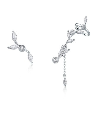 Senhoras Clássico Platinadas Cristal austríaco Brincos Ela/Amigos/Dama de honra