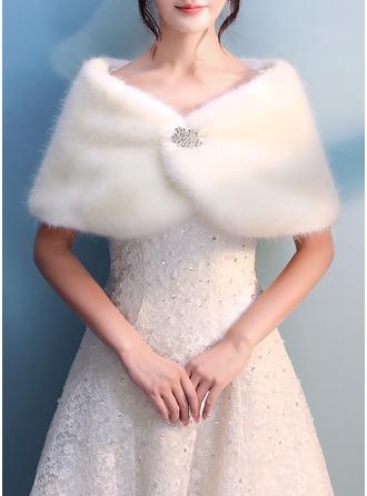 Imitert Pels Bryllup Wrap