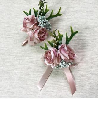 Gorgeous Artificial Silk Flower Sets (set of 2) - Wrist Corsage/Boutonniere