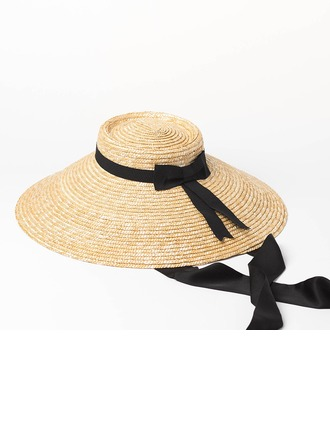 Senhoras Especial/Vintage Rattan de palha Chapéu de palha/Kentucky Derby Bonés
