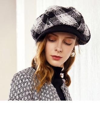 Bayanlar Klasik/Basit Yün Karışımı Disket Şapka