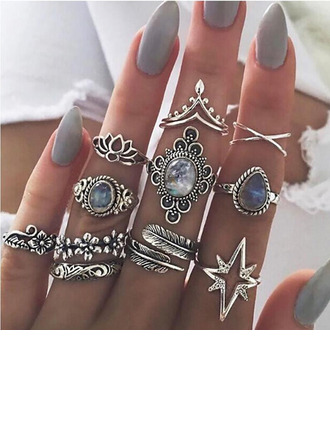 Unik Legering Kvinner Fashion Rings