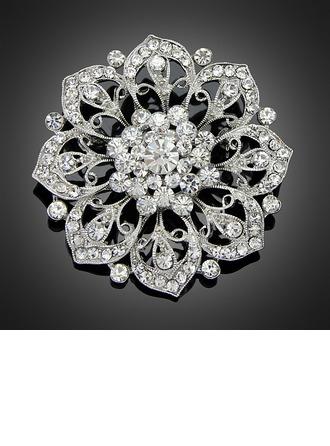 Fantasía Aleación/Diamantes de imitación/La perla de faux con Rhinestone Señoras' Broche
