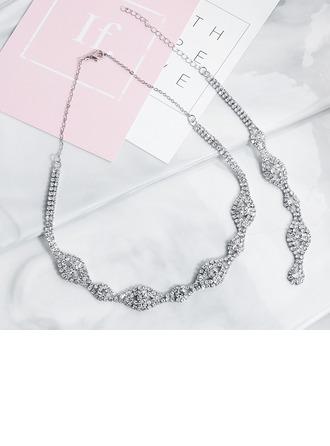 Damen Elegant Strasssteine Halsketten Ihr/Freunde/Braut/Brautjungfern/Blume Mädchen