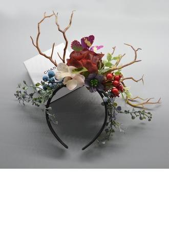 Çocuğun Göz alıcı/Çekicilik Polyester/Kumaş Ile Çiçek Fascinators/Kentucky Derby Şapkaları