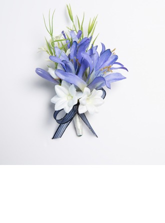 Speciaal Free-Form Satijn Boutonniere -