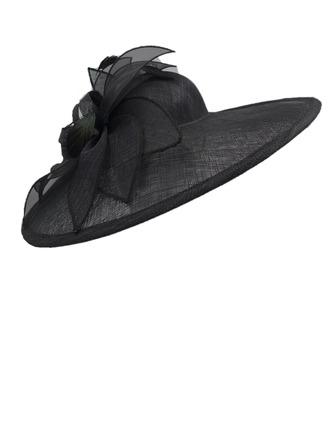 Dames Glamour/Accrocheur/Jolie Batiste avec Feather Kentucky Derby Des Chapeaux/Chapeaux Tea Party