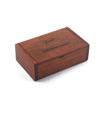 Groomsmen Gifts - Personalized Modern Wooden Cigar Case