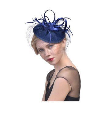 Dames Klassiek Batist met Feather Fascinators/Theepartij hoeden