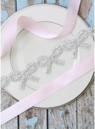 Beautiful/Flower Girl Satin Sash With Rhinestones