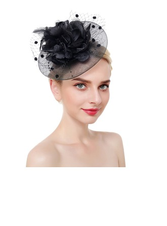 Dames Accrocheur/Jolie/Fantaisie Fil net avec Feather Chapeaux de type fascinator/Chapeaux Tea Party