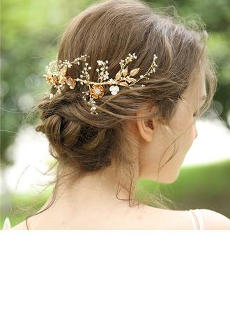 Dames Mooi Strass/Legering/Imitatie Parel Kammen & Haarspeldjes met Strass (Verkocht in één stuk)