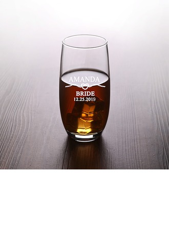 Bride Gifts - Personalized Attractive Special Simple Glass Glassware and Barware