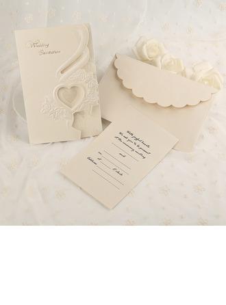 Classic Style Tri-Fold Invitationskort (Sæt af 50)