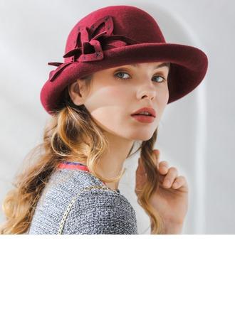 Damer' Mode/Klassisk stil/Söt/Romantiskt Ull Diskett Hat